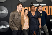 """(L-R) Jake Lacy, Zoe Kravitz, Da'Vine Joy Randolph, and David H. Holmes attend the """"High Fidelity"""" New York Premiere at The Metrograph on February 13, 2020 in New York City."""