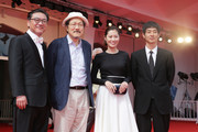 Actor Kim Euisung, director Hong Sangsoo, acrtors Moon Sori and Ryo Kase attend the 'Hill Of Freedom' - Premiere during the 71st Venice Film Festival on September 2, 2014 in Venice, Italy.