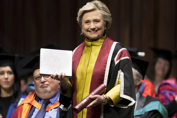 Hillary Clinton Hillary Clinton Receives an Honorary Doctorate From Swansea University