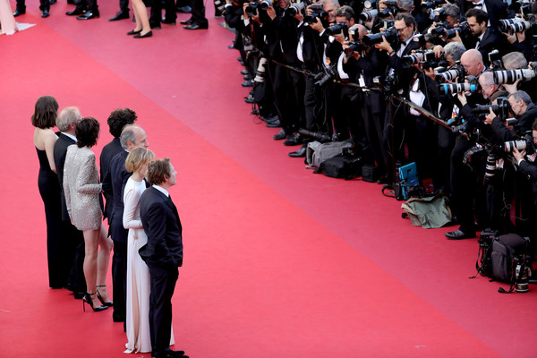 'Ismael's Ghosts (Les Fantomes d'Ismael)' and Opening Gala Red Carpet Arrivals - The 70th Annual Cannes Film Festival [ismaels ghosts,red carpet,carpet,red,event,fashion,flooring,premiere,crowd,audience,red carpet arrivals,arnaud desplechin,louis garrel,marion cotillard,hippolyte girardot,charlotte gainsbourg,mathieu amalric,alba rohrwacher,cannes film festival]