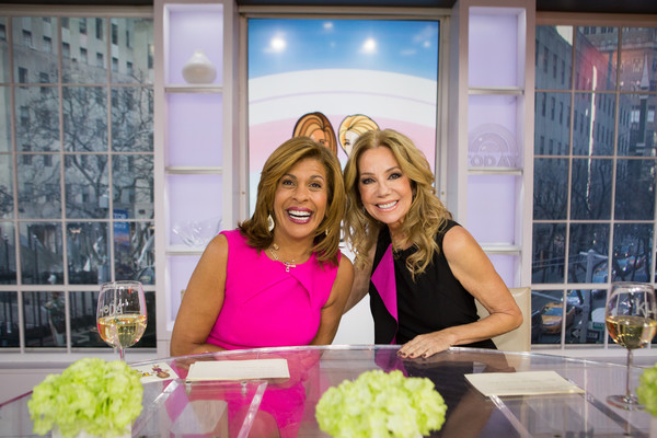 NBC's 'Today' With Guests Hoda Kotb, Start Today, And Bob Harper [hoda kotb,guests,bob harper,kathie lee gifford,start today,lady,floral design,floristry,pink,flower arranging,event,smile,fun,flower,plant,nbc]