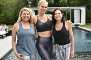 Debra Halpert, Molly Sims and Iris Dankner attend the Holiday House Hamptons x Dancebody #workoutwednesday Hosted By Molly Sims on July 17, 2019 in Southampton, New York.