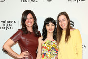 "Jennifer Lafleur, Sheila Vand and Sarah Adina Smith attend ""Holidays"" Premiere - 2016 Tribeca Film Festival at Chelsea Bow Tie Cinemas on April 14, 2016 in New York City."