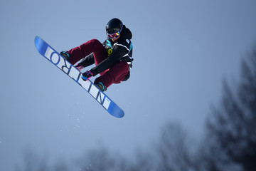 Holly Crawford FIS Freestyle World Cup - Snowboard Halfpipe Qualification