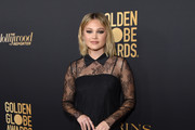 Olivia Holt attends the Hollywood Foreign Press Association and The Hollywood Reporter Celebration of the 2020 Golden Globe Awards Season and Unveiling of the Golden Globe Ambassadors at Catch on November 14, 2019 in West Hollywood, California.