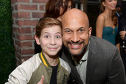 (L-R) Jacob Tremblay and Keegan-Michael Key attend the Hollywood Foreign Press Association and The Hollywood Reporter Celebration of the 2020 Golden Globe Awards Season and Unveiling of the Golden Globe Ambassadors at Catch on November 14, 2019 in West Hollywood, California.