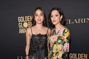 (L-R) Melissa Barrera and Mishel Prada attend the Hollywood Foreign Press Association and The Hollywood Reporter Celebration of the 2020 Golden Globe Awards Season and Unveiling of the Golden Globe Ambassadors at Catch on November 14, 2019 in West Hollywood, California.