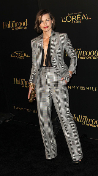 Actress Milla Jovovich attends The Hollywood Reporter's Nominees' Night Party at the Getty House on February 24, 2011 in Los Angeles, California.
