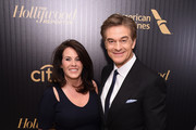 Lisa Oz and Dr. Mehmet Oz attend the Hollywood Reporter's 2016 35 Most Powerful People in Media at Four Seasons Restaurant on April 6, 2016 in New York City.