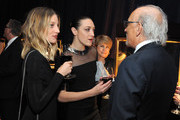 Janell Shirtcliff (L), DJ Mia Moretti and jewelry designer Roberto Coin attend The Hollywood Reporter's 4th Annual Nominees Night at Spago on February 8, 2016 in Beverly Hills, California.