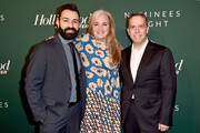 (L-R) Adrian Molina, Darla K. Anderson, and Lee Unkrich attend The Hollywood Reporter 6th Annual Nominees Night at CUT on February 5, 2018 in Beverly Hills, California.