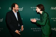 Luca Guadagnino (L) and Timothee Chalamet attend The Hollywood Reporter 6th Annual Nominees Night at CUT on February 5, 2018 in Beverly Hills, California.