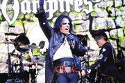Alice Cooper of The Hollywood Vampires perform  at The Greek Theatre on May 11, 2019 in Los Angeles, California.