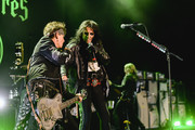 Johnny Depp and Alice Cooper of The Hollywood Vampires perform at The Greek Theatre on May 11, 2019 in Los Angeles, California.