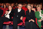 (L-R) Liliana Cavani, Festival director Dieter Kosslick, Charlotte Rampling and Monika Gruetters attend the Homage Charlotte Rampling Honorary Golden Bear award ceremony during the 69th Berlinale International Film Festival Berlin at Berlinale Palace on February 14, 2019 in Berlin, Germany. Rampling is this years recipient of the Honorary Golden Bear Award of the Berlinale.