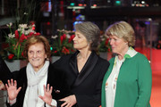 (L-R) Liliana Cavani, Charlotte Rampling and Monika Gruetters attend the Homage Charlotte Rampling Honorary Golden Bear award ceremony during the 69th Berlinale International Film Festival Berlin at Berlinale Palace on February 14, 2019 in Berlin, Germany. Rampling is this years recipient of the Honorary Golden Bear Award of the Berlinale.