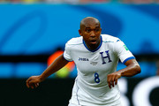 Wilson Palacios of Honduras controls the ball during the 2014 FIFA World Cup Brazil Group E match between Honduras and Switzerland at Arena Amazonia on June 25, 2014 in Manaus, Brazil.