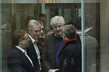 Horst Seehofer CDU, SPD And CSU Seek to Conclude Coalition Negotiations