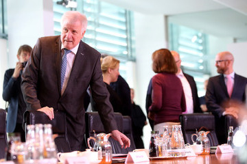 Horst Seehofer Weekly Government Cabinet Meeting