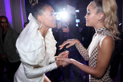 Cindy Bruna and Jasmine Sanders attends Cindy Bruna's Birthday Party at Hotel Lutetia with Five Eyes Production as part of Paris Fashion Week Womenswear Spring Summer 2020 on September 28, 2019 in Paris, France.