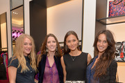 """(L-R) Elizabeth Gilpin, Jessica Weisblum, model Anne Marie Kortright and Ali Kay attend """"House of DVF"""" Season Finale with Diane von Furstenberg at The Grove on December 21, 2014 in Los Angeles, California."""