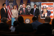 U.S. Rep. Mick Mulvaney (R-SC) (3rd L) speaks as (L-R) House Majority Leader Rep. Eric Cantor (R-VA), Rep. Renee Ellmers (R-NC), and Rep. Austin Scott (R-GA) listen during a news conference May 11, 2011 on Capitol Hill in Washington, DC. Cantor held a news conference to introduce the next phase of the You Cut program.