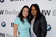 Jose Campos and  Christine Neubauer attend Housewarming at BMW Dealership on May 8, 2014 in Berlin, Germany.