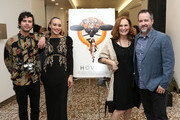 """(L-R) Shane Coffey, Cleopatra Coleman, Beth Grant and Matt Osterman attend the """"Hover"""" Los Angeles premiere screening at Arena Cinelounge on June 29, 2018 in Hollywood, California."""