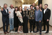 """(L-R) """"Hover"""" cast and crew Travis Stevens, Alastor Arnold, Claire Iannelli, Beth Grant, Cleopatra Coleman, Shane Coffey, Calder Greenwood, Matt Osternman and Zechariah Thormodsgaard attend the """"Hover"""" Los Angeles premiere screening at Arena Cinelounge on June 29, 2018 in Hollywood, California."""