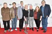 "Kyle Renick, Kirk Wise, Bill Lauch, Sarah Ashman Gillespie, composer Alan Menken, producer Lori Korngiebel and director Don Hahn attend a screening of ""Howard"" during the 2018 Tribeca Film Festival at Cinepolis Chelsea on April 22, 2018 in New York City."