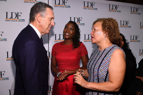 LDF 31th National Equal Justice Awards Dinner [howard schultz,janai nelson,debra lee,chairman,dinner,ldf 31th national equal justice awards,l-r,red,blue,event,yellow,fashion,award,adaptation,carpet,flooring,employment,starbucks,ldf,bet]