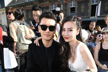 Huang Xiaoming Givenchy : Front Row - Paris Fashion Week - Menswear Spring/Summer 2017
