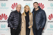 Phillip Schofield, Tess Daly and Ben Cohen attend Winterland, London for the launch of Huawei's StorySign App with the British Deaf Association on December 4, 2018 in London, England.