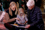 Phillip Schofield and Tess Daly attend Winterland, London for the launch of Huawei's StorySign App with the British Deaf Association on December 4, 2018 in London, England.