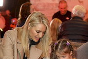 Tess Daly attends Winterland, London for the launch of Huawei's StorySign App with the British Deaf Association on December 4, 2018 in London, England.