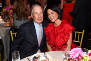Michael Bloomberg (L) and Lucy Liu attend the Hudson River Park Annual Gala at Cipriani South Street on October 17, 2019 in New York City.