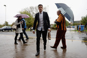 Hatem Ben Arfa of Hull City arrives at the stadium before the Barclays Premier League match between Hull City and Crystal Palace at KC Stadium on October 4, 2014 in Hull, England.