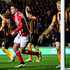 Jack Rodwell Photos - Sunderland player Jack Rodwell celebrates after scoring the first Sunderland goal past Hull goalkeeper Allan McGregor during the Barclays Premier League match between Hull City and Sunderland at KC Stadium on March 3, 2015 in Hull, England. - Hull City v Sunderland