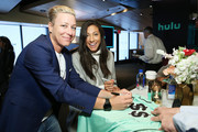 Abby Wambach and Christen Press pose during the Hulu '19 Presentation at Hulu Theater at MSG on May 01, 2019 in New York City.