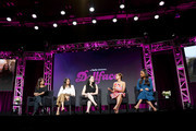 (L-R) Stephanie Laing, Jordan Weiss, Kat Dennings, Brenda Song, and Shay Mitchell speak onstage during the Hulu 2019 Summer TCA Press Tour at The Beverly Hilton Hotel on July 26, 2019 in Beverly Hills, California.