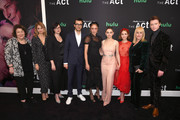 """(L-R) Margo Martindale,  Director Laure de Clermont-Tonnerre, EP/Writer Michelle Dean, EP/Writer Nick Antosca, Chloe Sevigny, Joey King, Patricia Arquette, AnnaSophia Robb and Calum Worthy attend Hulu's """"The Act"""" New York Premiere at The Whitby Hotel on March 14, 2019 in New York City."""