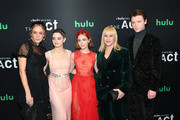 """(L-R) Chloe Sevigny, Joey King, Patricia Arquette, AnnaSophia Robb and Calum Worthy attend Hulu's """"The Act"""" New York Premiere at The Whitby Hotel on March 14, 2019 in New York City."""