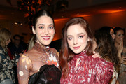 (L-R) Lizzy Caplan and Madison Davenport attend the Hulu LA Press Party 2019 at Spago on November 12, 2019 in Beverly Hills, California.
