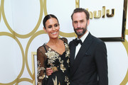 (L-R) Maria Dolores Dieguez and Joseph Fiennes attends Hulu's 2018 Emmy Party at Nomad Hotel Los Angeles on September 17, 2018 in Los Angeles, California.
