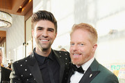 Justin Mikita (L) and Jesse Tyler Ferguson attend The Human Rights Campaign 2019 Los Angeles Gala Dinner at JW Marriott Los Angeles at L.A. LIVE on March 30, 2019 in Los Angeles, California.
