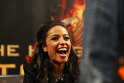 'The Hunger Games: Catching Fire' cast member Meta Golding meets fans on November 5, 2013 at Mall of America in Bloomington, Minnesota.
