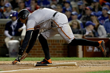 Hunter Pence Division Series - San Francisco Giants v Chicago Cubs - Game One