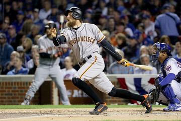 Hunter Pence Division Series - San Francisco Giants v Chicago Cubs - Game Two