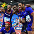 Michael Rodgers Noah Lyles Photos - Noah Lyles, Tyquendo Tracey, Yohan Blake and Michael Rodgers of Team Americas pose for a photo following victory in the 4x100 Mens Relay during day 1 of the IAAF Continental Cup at Mestsky Stadium on September 8, 2018 in Ostrava, Czech Republic. - IAAF Continental Cup - Day 1