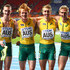 Alexander Beck Photos - (L-R) Steven Solomon, Tristan Thomas, Alexander Beck and Craig Burns and Australia after the Men's 4x400 metres final during Day Seven of the 14th IAAF World Athletics Championships Moscow 2013 at Luzhniki Stadium at Luzhniki Stadium on August 16, 2013 in Moscow, Russia. - IAAF World Athletics Championships: Day 7